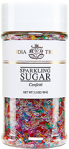 10215 Confetti Sparkling Sugar, Small Jar 3.5 oz, India Tree Storefront
