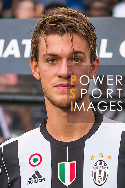 Juventus' player Daniele Rugani poses for a picture after the South China vs Juventus match of the AET International Challenge Cup on 30 July 2016 at Hong Kong Stadium, in Hong Kong, China.  Photo by Marcio Machado / Power Sport Images