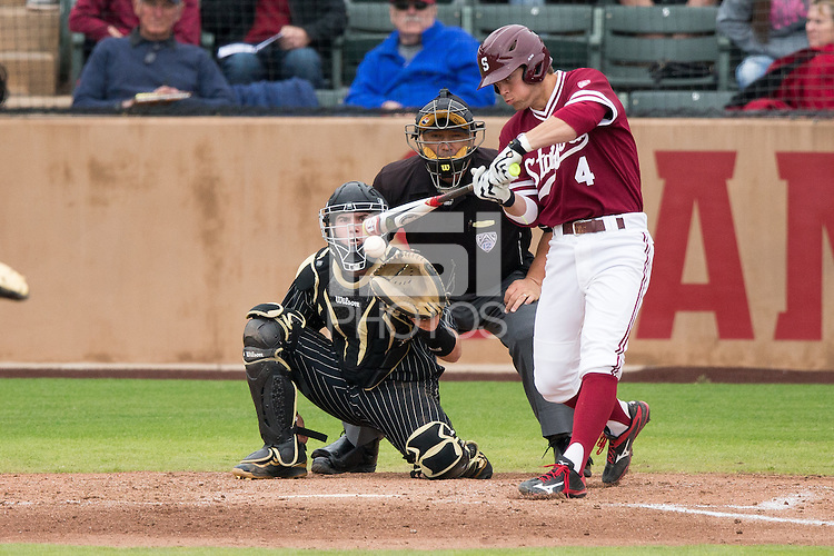 STANFORD, CA - March 6, 2016:  Stanford vs Vanderbilt at Klein Field at Sunken Diamond. Vanderbilt won the game 5-2.