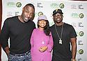 Actors Idris Elba, Tatyana Ali and Lance Gross pose photos at the Toyota SWAC 2014 Championship Game
