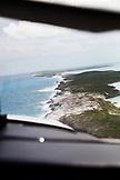 EXUMA, Bahamas. View of Exuma from the plane.