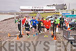There off - Competitors at the start of the Waterville Duathlon in aid of Waterville RC on Sunday.