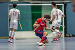 Mannheim, Germany, January 08: During the 1. Bundesliga men indoor hockey match between TSV Mannheim and Mannheimer HC on January 8, 2020 at Primus-Valor Arena in Mannheim, Germany. Final score 5-4. (Photo by Dirk Markgraf / www.265-images.com) *** Luis Holste #9 of Mannheimer HC