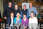 NEVERFORGOTTON:A night to remember as friends of the late Michael Donovan celebrate his 10th anniversary in the Greyhound Bar, Tralee on Tuesday night, Front l-r: Mary Pat O'Connor, Ena Healy, Margaret Foley and Lillian Hanafin. Back l-r: Pat O'Connor, Charles Healy, Joe Hanafin and Scott Browne.