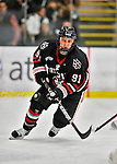 27 January 2012: Northeastern University Huskies' forward Robbie Vrolyk, a Junior from Boylston, MA, in action against the University of Vermont Catamounts at Gutterson Fieldhouse in Burlington, Vermont. The Huskies defeated the Catamounts 8-3 in the first game of their 2-game Hockey East weekend series. Mandatory Credit: Ed Wolfstein Photo