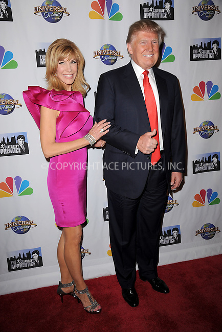 WWW.ACEPIXS.COM<br /> February 16, 2015 New York City<br /> <br /> Leeza Gibbons and Donald Trump arriving to the Celebrity Apprentice Finale viewing party and post show red carpet on February 16, 2015 in New York City.<br /> <br /> Please byline: Kristin Callahan/AcePictures<br /> <br /> ACEPIXS.COM<br /> <br /> Tel: (646) 769 0430<br /> e-mail: info@acepixs.com<br /> web: http://www.acepixs.com
