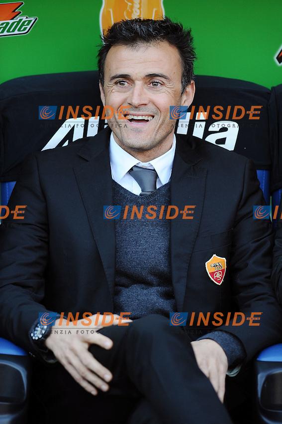 Luis Enrique, allenatore della AS Roma..Roma, 08/01/2012 Stadio Olimpico.Football Calcio 2011/2012 Serie A..Roma vs Chievo Verona 2-0.Foto Insidefoto Antonietta Baldassarre
