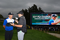 Brooks Koepka (USA) is interviewed after winning the 2019 PGA Championship, Bethpage Black Golf Course, New York, New York,  USA. 5/19/2019.<br /> Picture: Golffile | Ken Murray<br /> <br /> <br /> All photo usage must carry mandatory copyright credit (© Golffile | Ken Murray)