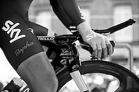 on the start podium<br /> <br /> Tour de France 2013<br /> stage 11: iTT Avranches - Mont Saint-Michel <br /> 33km