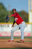 Johnson City Cardinals starting pitcher Ronnie Williams (3) in action against the Burlington Royals at Burlington Athletic Park on August 22, 2015 in Burlington, North Carolina.  The Cardinals defeated the Royals 9-3. (Brian Westerholt/Four Seam Images)