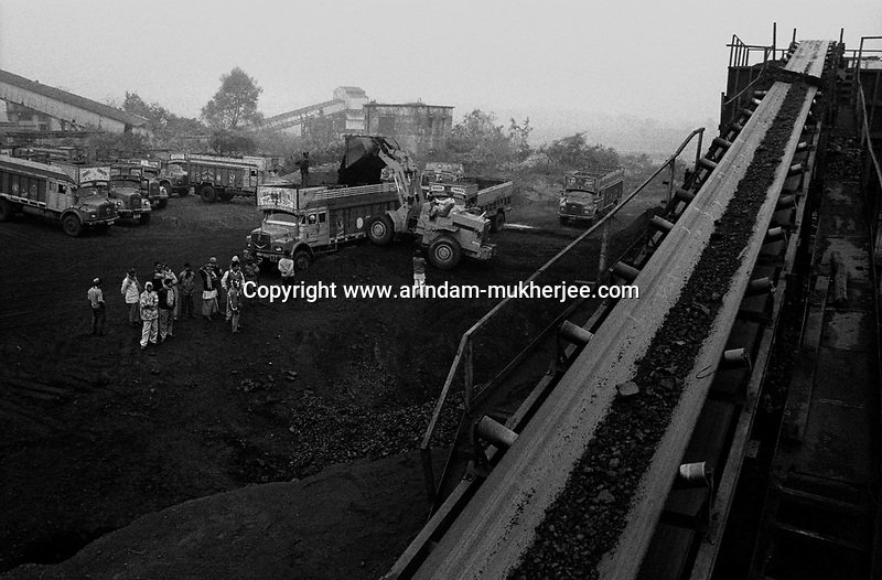 Coal coming out of a deep underground mine at North Searsole Coliery in Ranigunj, West Bengal, India. Arindam Mukherjee