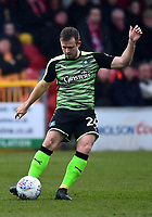 Plymouth Argyle's David Fox in action<br /> <br /> Photographer Richard Martin-Roberts/CameraSport<br /> <br /> The EFL Sky Bet League One - Fleetwood Town v Plymouth Argyle - Saturday 10th March 2018 - Highbury Stadium - Fleetwood<br /> <br /> World Copyright &not;&copy; 2018 CameraSport. All rights reserved. 43 Linden Ave. Countesthorpe. Leicester. England. LE8 5PG - Tel: +44 (0) 116 277 4147 - admin@camerasport.com - www.camerasport.com