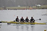011 DartTotnesRC SEN.4+..Marlow Regatta Committee Thames Valley Trial Head. 1900m at Dorney Lake/Eton College Rowing Centre, Dorney, Buckinghamshire. Sunday 29 January 2012. Run over three divisions.