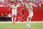 (L-R) Selina Kuster (SUI), Josee Belanger (CAN), JUNE 21, 2015 - Football / Soccer : <br /> FIFA Women's World Cup Canada 2015 Round of 16 match between Canada 1-0 Switzerland at BC Place Stadium, <br /> Vancouver, Canada. (Photo by Yusuke Nakansihi/AFLO SPORT)