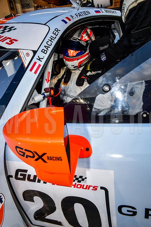 #20 GPX RACING (UAE) PORSCHE 911 GT3 R NICO PRONK (NED) STANISLAV MINSKY (SLO) FRED FATIEN (FRA) KLAUS BACHLER (AUT) GT3 PRO AM