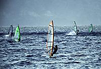 Windsurfers at Hookaipa beach, Maui, Hawaii