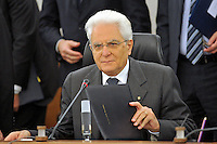 President of Italy Sergio Mattarella, elected in  2015.