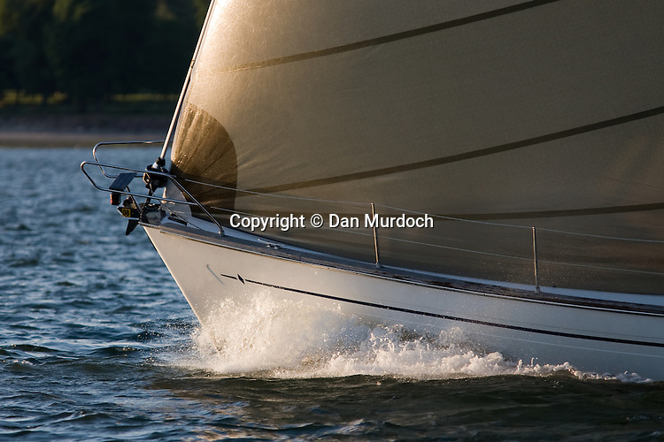 sailboat bow slicing the water