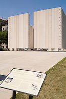 Memorial for John F Kennedy assassination near site of death in downtown Dallas Texa