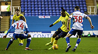 Blackburn Rovers' Amari'i Bell  competing with Reading's Sone and Aluko  Liam Kelly<br /> <br /> Photographer Andrew Kearns/CameraSport<br /> <br /> The EFL Sky Bet Championship - Reading v Blackburn Rovers - Wednesday 13th February 2019 - Madejski Stadium - Reading<br /> <br /> World Copyright © 2019 CameraSport. All rights reserved. 43 Linden Ave. Countesthorpe. Leicester. England. LE8 5PG - Tel: +44 (0) 116 277 4147 - admin@camerasport.com - www.camerasport.com