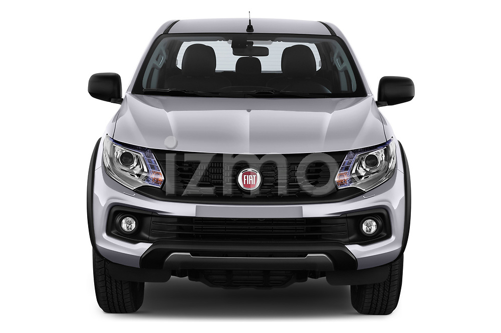 Car photography straight front view of a 2018 Fiat Fullback Cross Techno 4 Door Pick Up