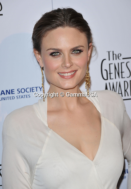 Emily Deschanel _60 - <br /> 24th Genesis Awards at the Beverly Hilton In Los Angeles.