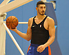 Enes Kanter of the New York Knicks practices at Madison Square Garden Training Center in Greenburgh, NY on Friday, Sept. 28, 2018.