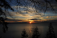 Sunset in Bellingham, Washington