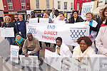 Pictured at the direct provison protest in the Square, Tralee on Tuesday