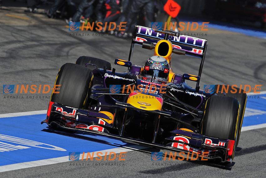 Formula 1: Test  Barcelone  20/02/2013.SEBASTIAN VETTEL (GER) - RED BULL RENAULT RB9 - ACTION  .Foto Insidefoto / ITALY ONLY