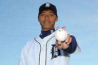 Feb 21, 2009; Lakeland, FL, USA; The Detroit Tigers pitcher Fu-Te Ni (75) during photoday at Tigertown. Mandatory Credit: Tomasso De Rosa/ Four Seam Images