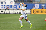 CHESTER, PA - MARCH 01: Lucy Bronze (ENG) consumes something as she runs back on the field. The England Women's National Team played the France Women's National Team as part of the She Believes Cup on March, 1, 2017, at Talen Engery Stadium in Chester, PA. The France won the game 2-1.