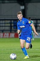 Max Sanders of AFC Wimbledon with the ball during the The Leasing.com Trophy match between AFC Wimbledon and Leyton Orient at the Cherry Red Records Stadium, Kingston, England on 8 October 2019. Photo by Carlton Myrie / PRiME Media Images.