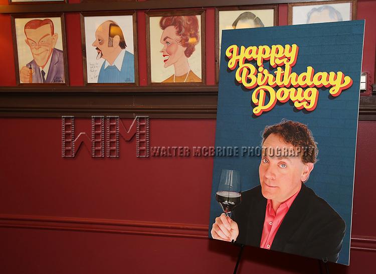 """Happy Birthday Doug"" photo call at Sardi's Restaurant on February 5, 2020 in New York City."