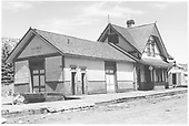 Southeast corner view of original RGS Dolores depot.<br /> RGS  Dolores, CO  Taken by Richardson, Robert W. - 4/21/1953