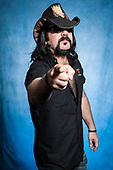 HELLYEAH - drummer Vinnie Paul Abbott (March 11, 1964 – June 22, 2018) - photosession at the Download Festival held at Donington Park UK - 12 Jun 2010.  Photo credit: Tina Korhonen/IconicPix