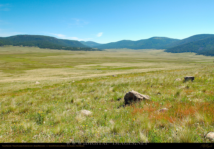 Valle Grande, Great Grass Valley, Valles Caldera Supervolcano, Jemez Mountains, Santa Fe National Forest, Los Alamos, New Mexico