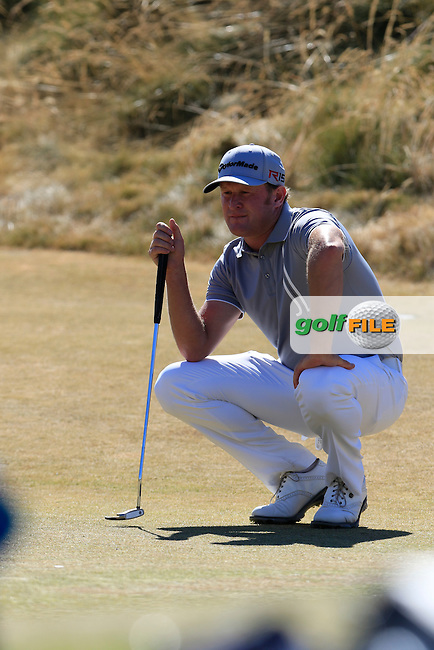 Jamie DONALDSON (WAL) lines up his putt on the 6th green during Friday's Round 2 of the 2015 U.S. Open 115th National Championship held at Chambers Bay, Seattle, Washington, USA. 6/20/2015.<br /> Picture: Golffile | Eoin Clarke<br /> <br /> <br /> <br /> <br /> All photo usage must carry mandatory copyright credit (&copy; Golffile | Eoin Clarke)
