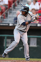 Syracuse Chiefs outfielder Michael Martinez during a game vs. the Buffalo Bisons at Coca-Cola Field in Buffalo, New York;  August 30, 2010.  Syracuse defeated Buffalo 4-1.  Photo By Mike Janes/Four Seam Images