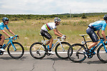 The peloton including World Champion Alejandro Valverde (ESP) Movistar Team during Stage 1 of the Route d'Occitanie 2019, running 175.5km from Gignac-Vallée de l'Hérault to Saint-Geniez-d'Olt-et-d'Aubrac , France. 20th June 2019<br /> Picture: Colin Flockton | Cyclefile<br /> All photos usage must carry mandatory copyright credit (© Cyclefile | Colin Flockton)