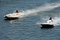 """Tim Settle, F-77 """"Barracuda"""", 266 class Wickins hydroplane and F-47 """"Wee Tommy Tucker"""" (266 class hydroplane)"""