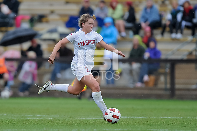 STANFORD, CA - October 17, 2010: Camille Levin during a soccer match against Washington in Stanford, California.  Stanford won 2-1.