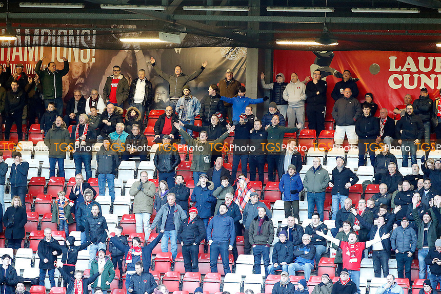 O's fans during Leyton Orient vs Carlisle United, Sky Bet EFL League 2 Football at the Matchroom Stadium on 4th February 2017