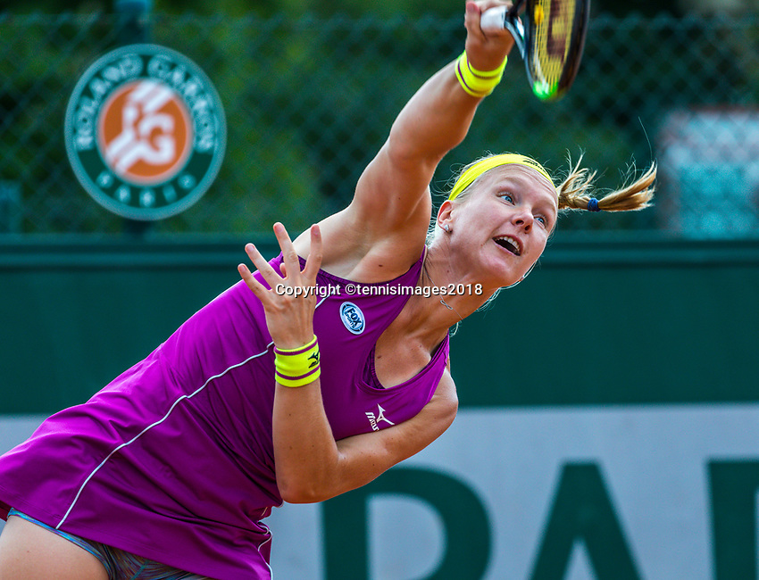 Paris, France, 30 May, 2018, Tennis, French Open, Roland Garros, Womans Doubles : Kiki Bertens (NED) <br /> Photo: Henk Koster/tennisimages.com