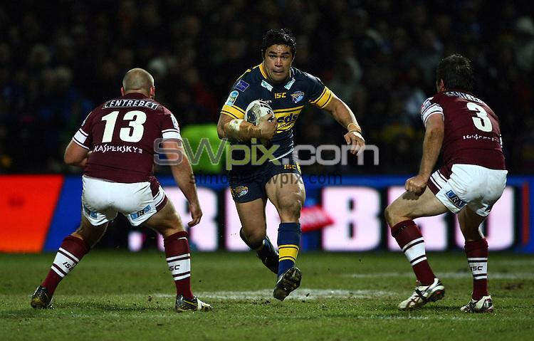 PICTURE BY VAUGHN RIDLEY/SWPIX.COM - Rugby League - Heinz Big Soup World Club Challenge 2012 - Leeds Rhinos v Manly Sea Eagles - Headingley, Leeds, England - 17/02/12 - Leeds Kylie Leuluai.