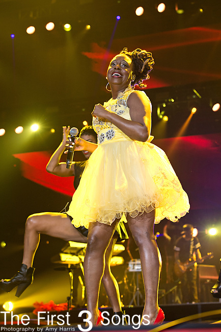 Ledisi (real name Ledisi Anibade Young) performs during the 2014 Essence Festival at the Mercedes-Benz Superdome in New Orleans, Louisiana.
