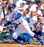 11 March 2007: Los Angeles Dodgers outfielder Juan Pierre in action against the Washington Nationals at Holman Stadium in Vero Beach, Florida. <br /> <br /> Mandatory Photo Credit: Ed Wolfstein Photo