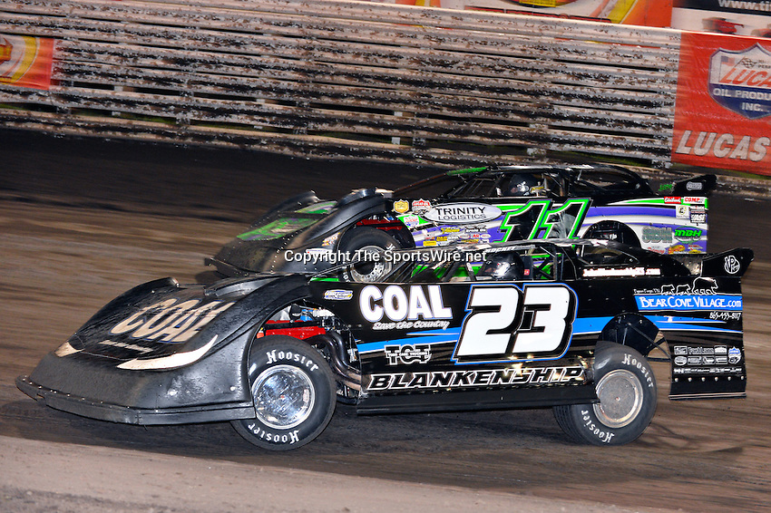Sep 26, 2013; 8:34:34 PM; Knoxville, IA., USA; 10th Annual Lucas Oil Late Model Knoxville Nationals presented by Caseys General Stores at the Knoxville Raceway.  Mandatory Credit: (thesportswire.net)
