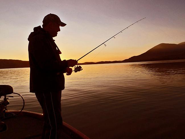 Fishing on Clear Lake, Ca