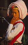 China, a young Dai woman in Xishuangbanna Dai Autonomous Prefecture, Yunnan Province